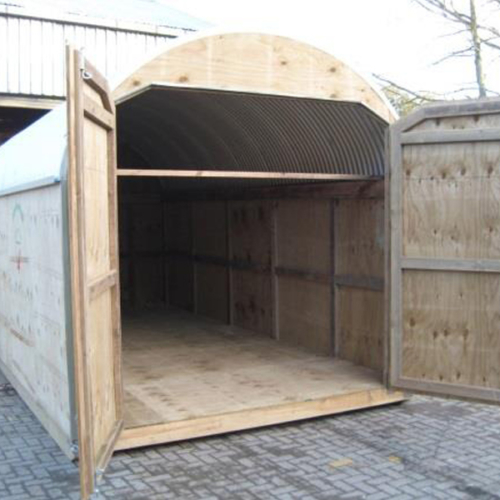 Horses Hay Shed with Floor